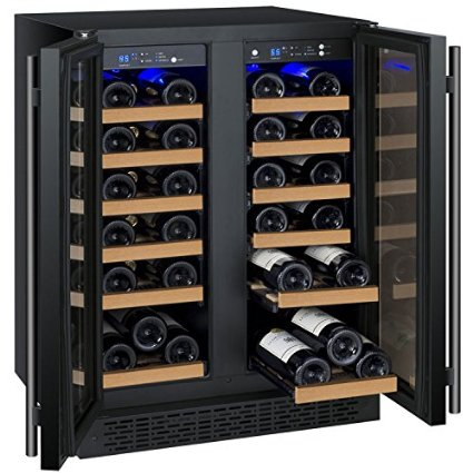 Allavino FlexCount VSWR36-2BWFN Black 36 Bottle Dual Zone Wine Cooler