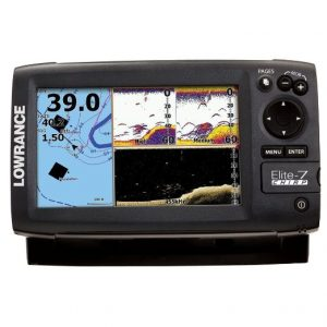 Lowrance Elite-7 Gold CHIRP Fishfinder-Chartplotter with 83-200 KHz and 455-800 KHz Transducer and Navionics Cartography