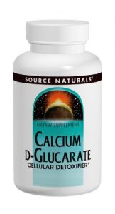 Source Naturals Calcium D-Glucarate 500mg, 120 Tablets